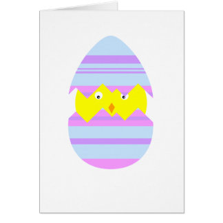 Easter Chick in Egg Card