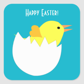 Easter Chick Square Sticker