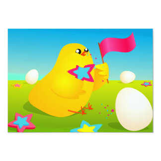 easter chicken card