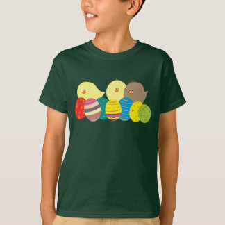 Easter Chicks Cartoon Cute Colorful Ornate Eggs T-Shirt