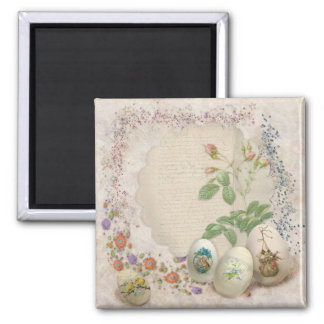 Easter Collage Square Magnet