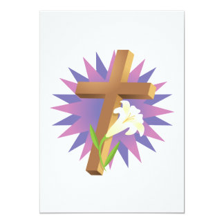 Easter Cross 13 Cm X 18 Cm Invitation Card