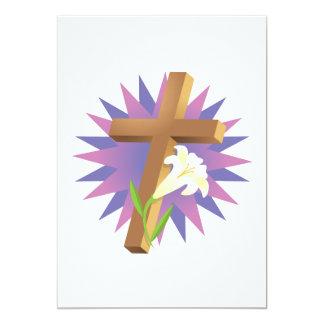 Easter Cross 13 Cm X 18 Cm Invitation Card