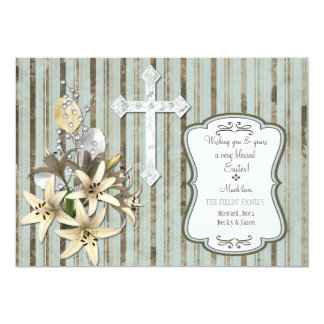 Easter Cross Card 13 Cm X 18 Cm Invitation Card