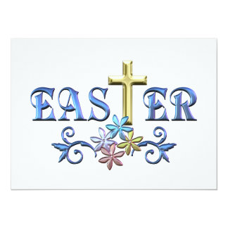 Easter Cross 5.5x7.5 Paper Invitation Card
