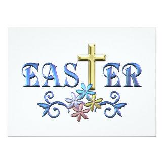 Easter Cross 14 Cm X 19 Cm Invitation Card