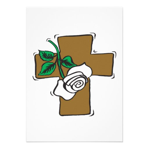Easter Cross Personalized Announcement
