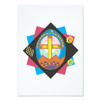 "Easter Cross 5"" X 7"" Invitation Card"