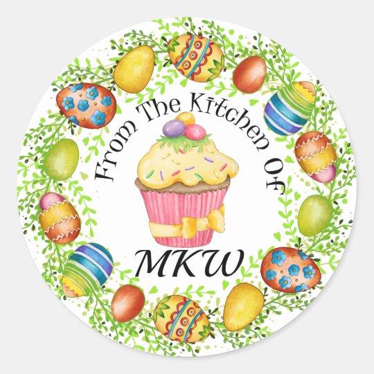 Easter Cupcake Sticker
