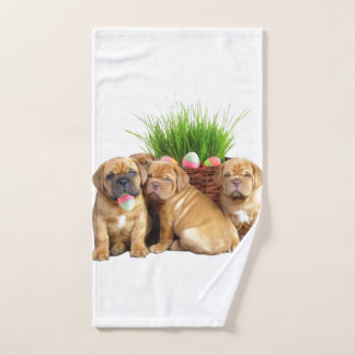 Easter Dogue de Bordeaux puppies hand towel