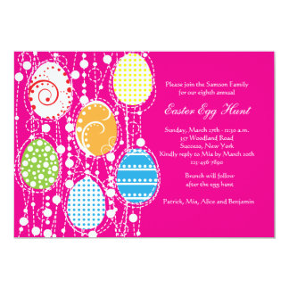 Easter Egg Cascade Invitation