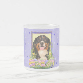 Easter Egg Cookies - Bernese Mountain Dog Frosted Glass Coffee Mug