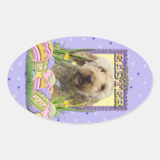 Easter Egg Cookies - GoldenDoodle Oval Sticker