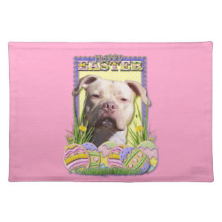 Easter Egg Cookies - Pitbull - Jersey Girl Placemat