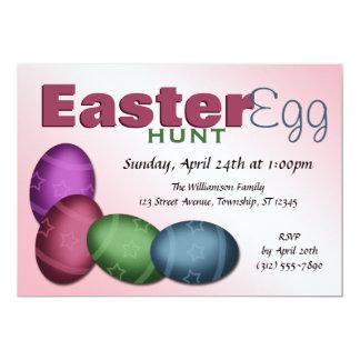 Easter Egg Hunt ~ 4 Egg Easter Invitations
