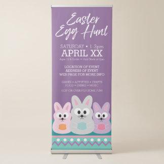 Easter Egg Hunt Advertisement - Cute Bunny Rabbits Retractable Banner