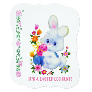Easter egg hunt party fun invitation