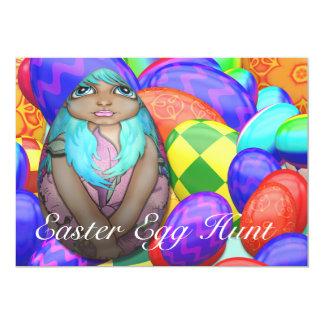 Easter Egg Hunt Turquoise Invitation