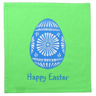 Easter Egg Jewel Style Stencil Patern Napkin