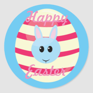 Easter egg with bunny sticker