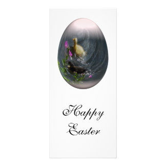 easter egg with ducklings customized rack card