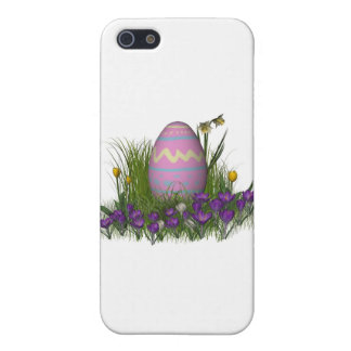 Easter Egg with Spring Flowers Case For The iPhone 5