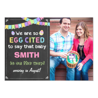 Easter Eggcited Pregnancy Reveal Announcement