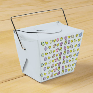 Easter Eggs and Chicks Favour Box