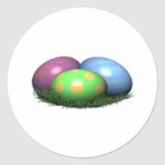 Easter Eggs Classic Round Sticker