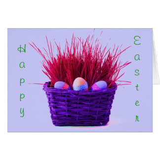 Easter Eggs in Basket IX Greeting Cards