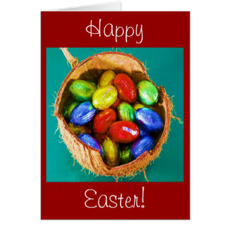 Easter Eggs in Basket Note Card