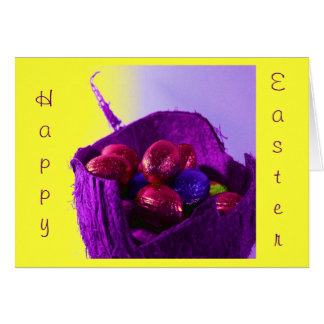 Easter Eggs in Basket VII Greeting Card