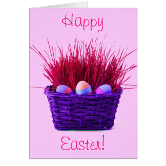 Easter Eggs in Basket X Cards
