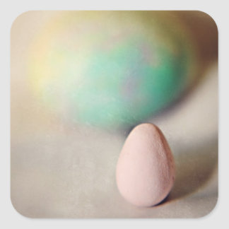 Easter eggs on an Easter day Square Sticker