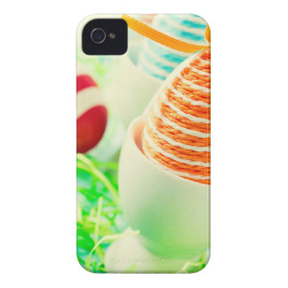 Easter eggs on grass iPhone 4 Case-Mate case