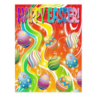 Easter Eggs Ornamental Design Postcard