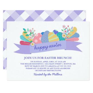 Easter Eggs   Purple Easter Brunch Invitation