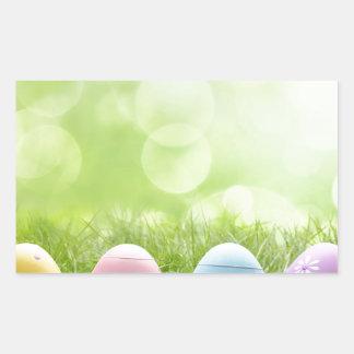 Easter Eggs Rectangular Sticker