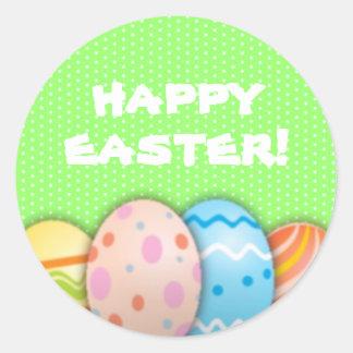 Easter Eggs Round Sticker