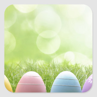 Easter Eggs Square Sticker