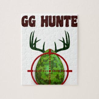 Easter expert Hunter, egg deer target shooter, fun Jigsaw Puzzle