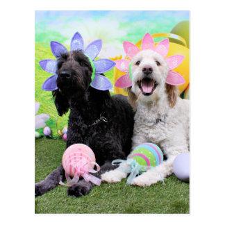 Easter - GoldenDoodles - Sadie and Izzie Postcard