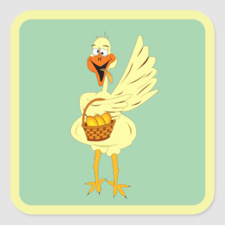 Easter Goose Sticker