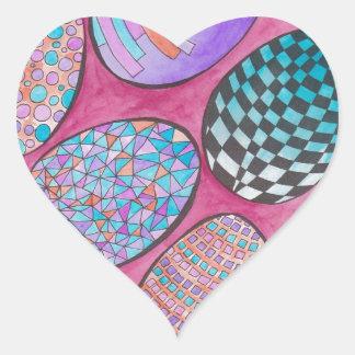 Easter GraphiZen Heart Sticker