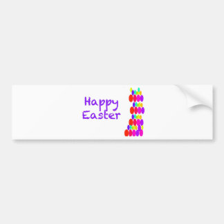 Easter Greeting Car Bumper Sticker
