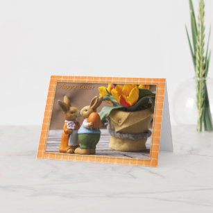 Couples easter gifts on zazzle nz easter happy easter bunny couple christmas card negle Images