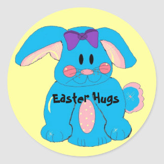 Easter Hugs Round Stickers