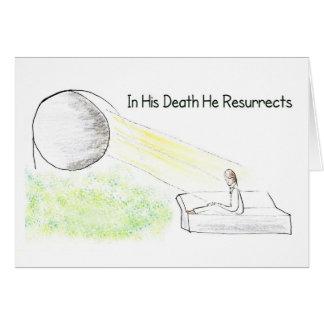 Easter Illustration In Death Christ Resurrects Card