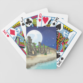 Easter Island Bicycle Playing Cards
