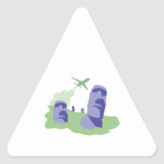 Easter Island Triangle Sticker